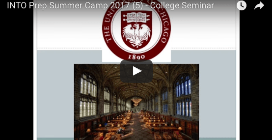 Into prep summer camp 2017 college seminar
