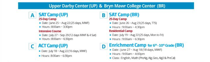 summer camp schedule