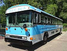 BMC blue bus