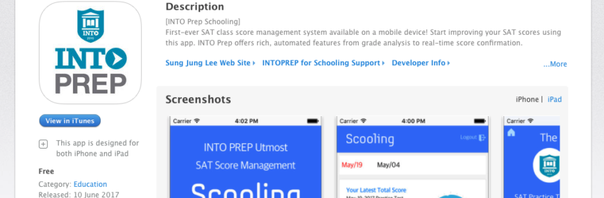 INTO Prep schooling app