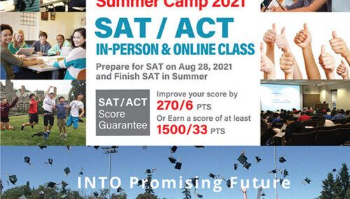 INTO PREP Summer Camp 2021 for SAT / ACT